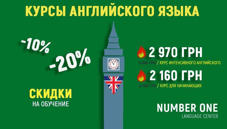 Скидки на курсы английского языка в Одессе