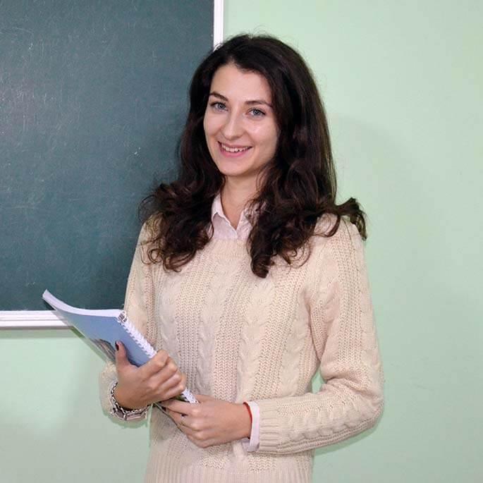 Аджийская Ирина преподаватель английского языка Number One